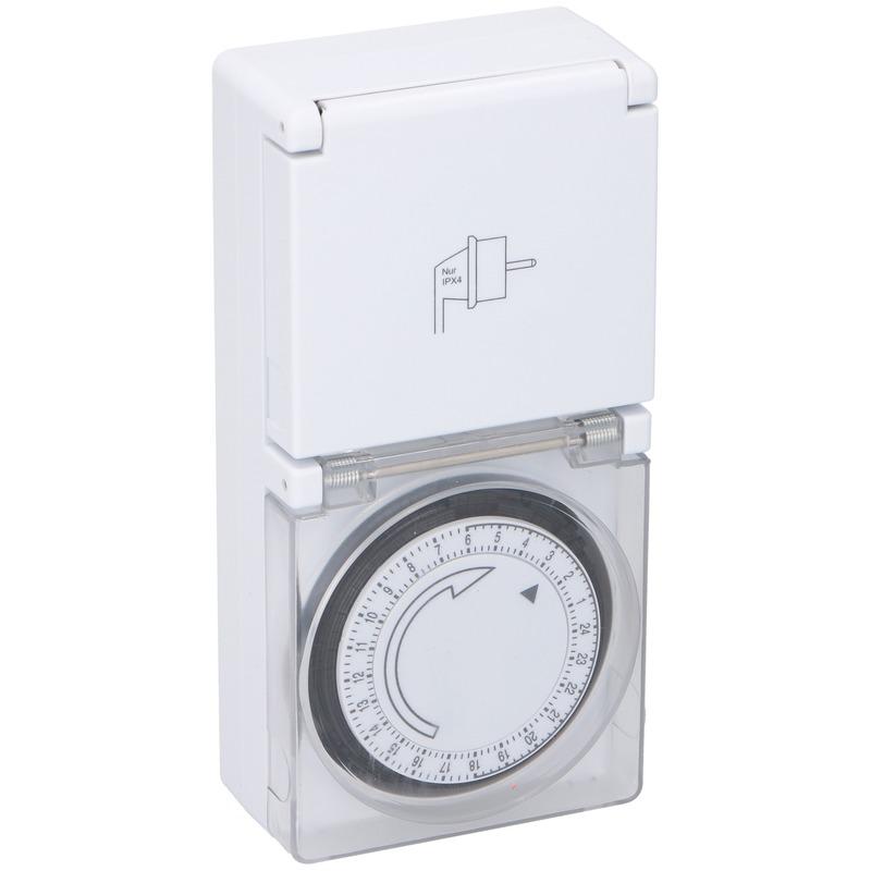 Mechanische timer/tijdklok met afdekklepje
