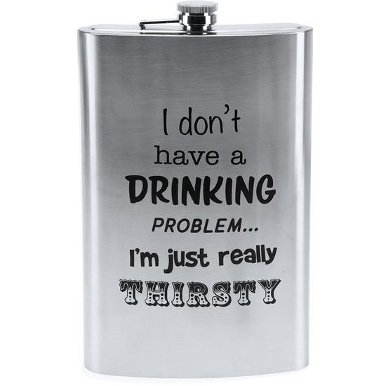 Mega heupfles 1800 ml Drinking problem