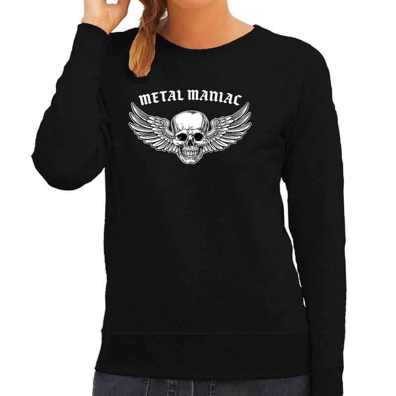 Metal Maniac fashion sweater rock - punker zwart voor dames