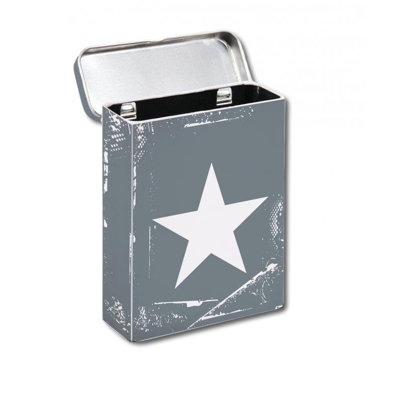 Metalen sigaretten box grijs