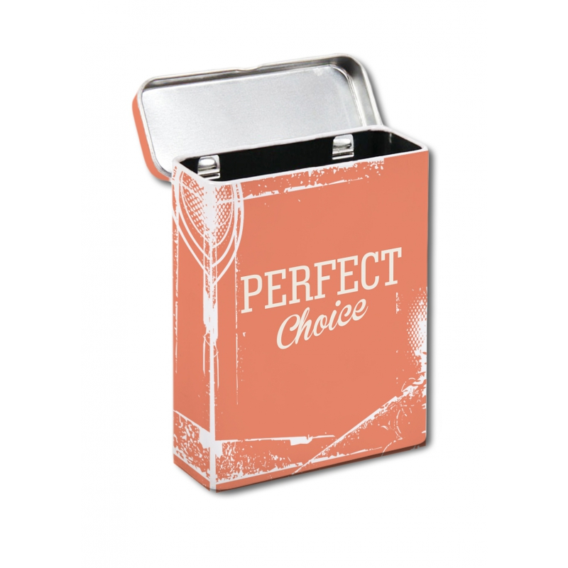 Metalen sigaretten box oranje