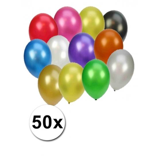 Metallic ballonnen kleuren 100 stuks