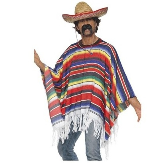 Mexicaanse poncho met sombrero