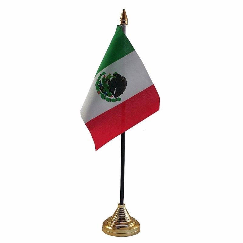 Mexico tafelvlaggetje 10 x 15 cm met standaard