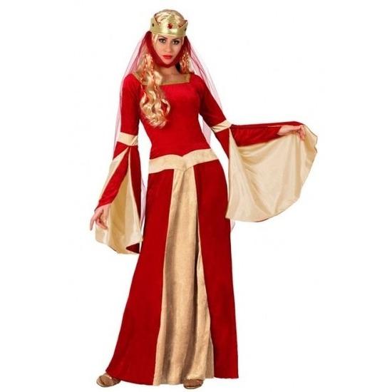Middeleeuwse koningin verkleed jurk voor dames