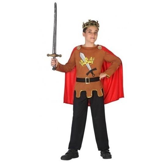 Middeleeuwse ridder/koning Arthur verkleed kostuum jongens