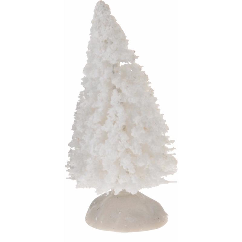 Miniatuur kerstboompjes wit 4 stuks