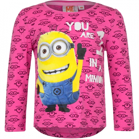 Minion t-shirt fuchsia