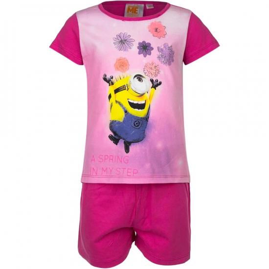 9c9cd7a0c2f Minions bloemen korte pyjama meisjes - Kinder pyjamas - Bellatio ...