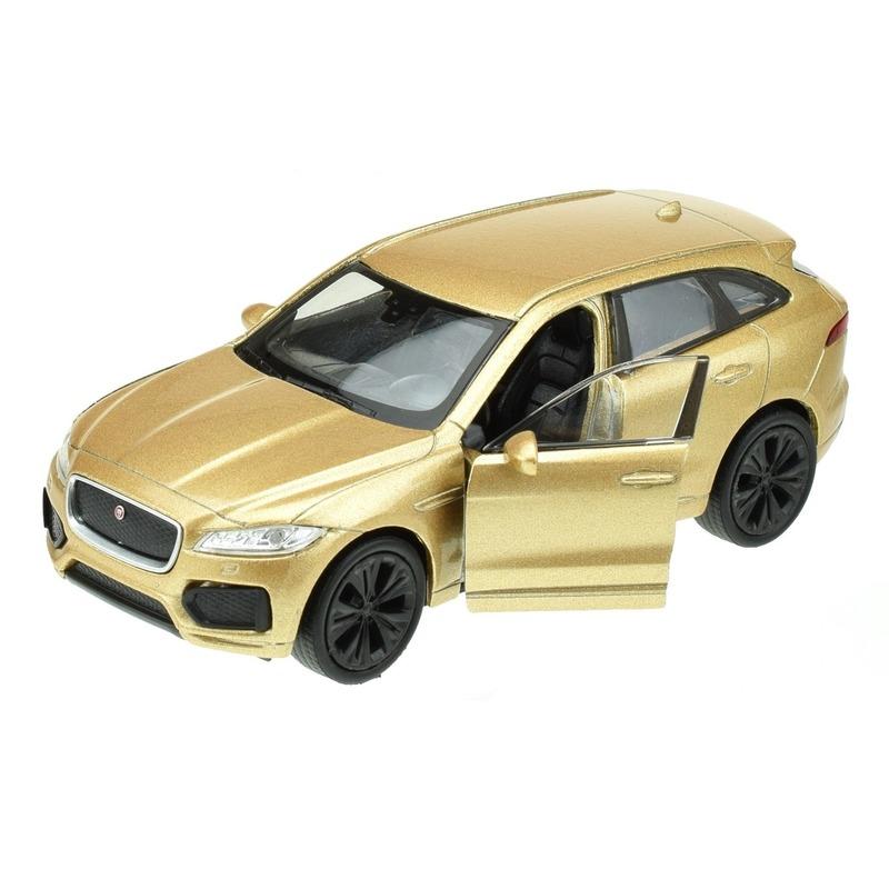 Modelauto Jaguar F-pace goudkleurig 1:34 Goudkleurig