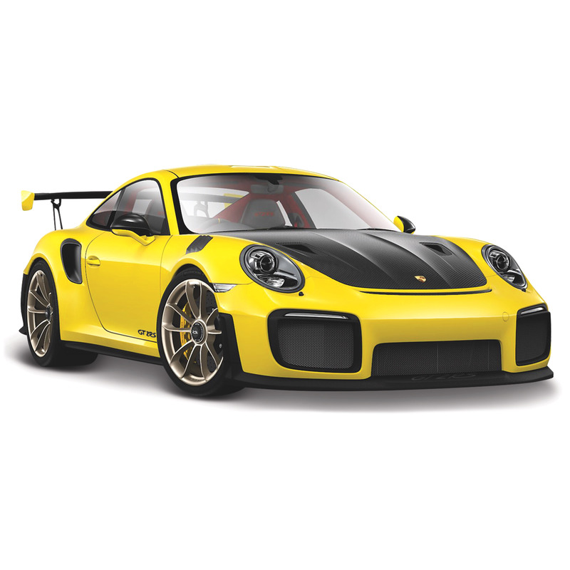 Modelauto Porsche 911 GT2 RS Special Edition geel-zwart 1:24