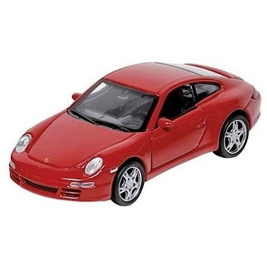 Modelauto Porsche 911 rood 1:34