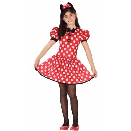 Muizen jurkje rood met stippen voor meisjes