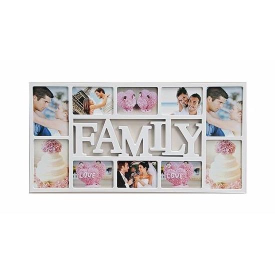 Multi fotolijst familie wit 10 fotos