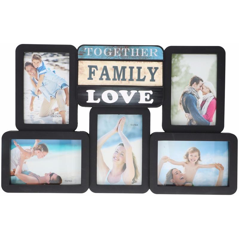 Multi zwarte fotolijst Family Love 46 x 29 cm