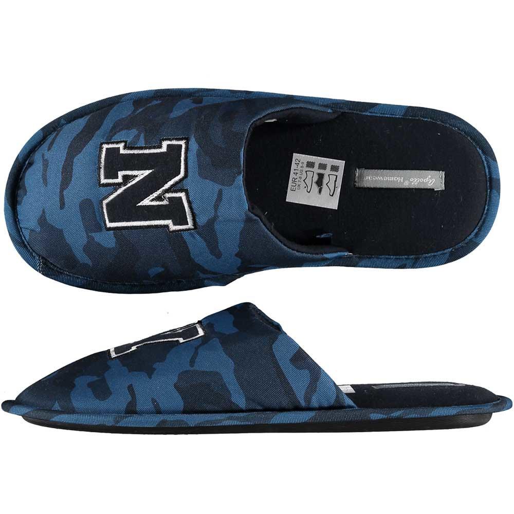 Navy blauwe camouflage instap pantoffels/sloffen voor heren 41-42 -