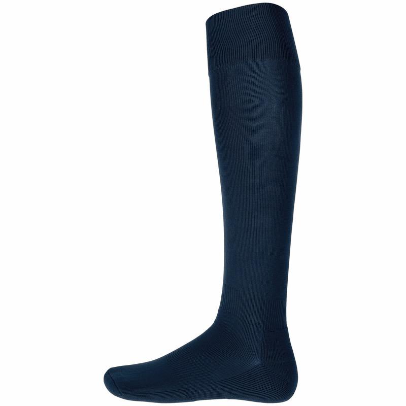 Navy blauwe hoge sportsokken voor volwassenen Blauw
