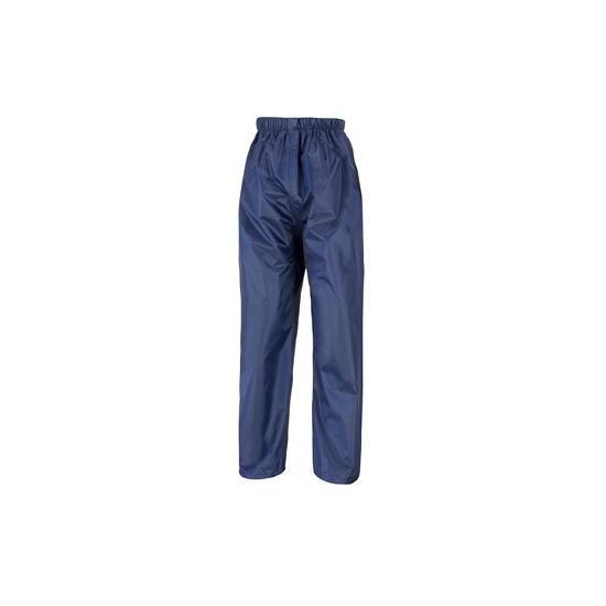 Navy blauwe regenbroek voor volwassenen