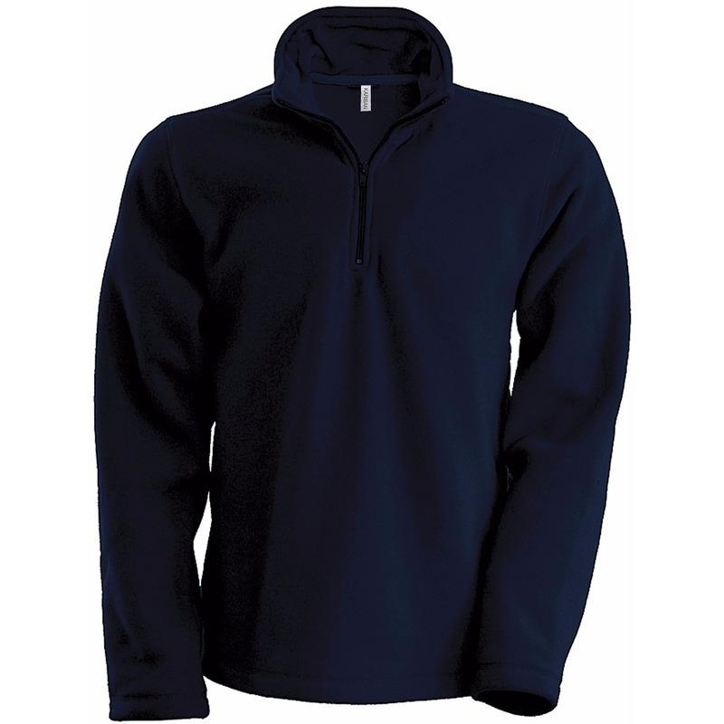 Navy micro polar fleece trui voor heren