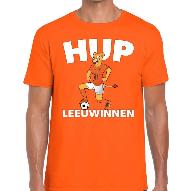 Nederland supporter t-shirt Hup Leeuwinnen oranje heren