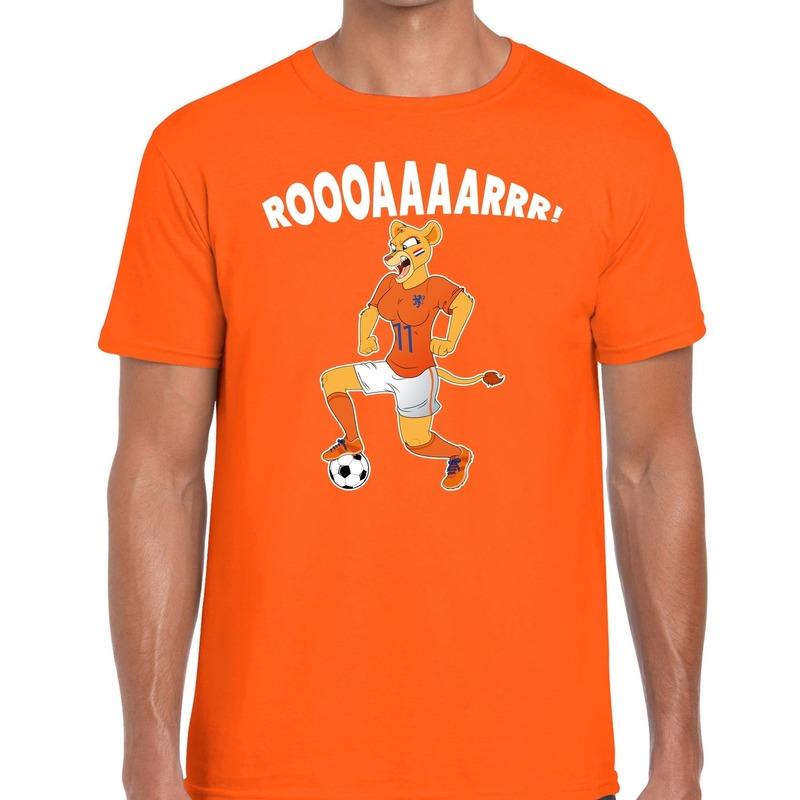 Nederland supporter t-shirt Leeuwin roooaaaarrr oranje heren