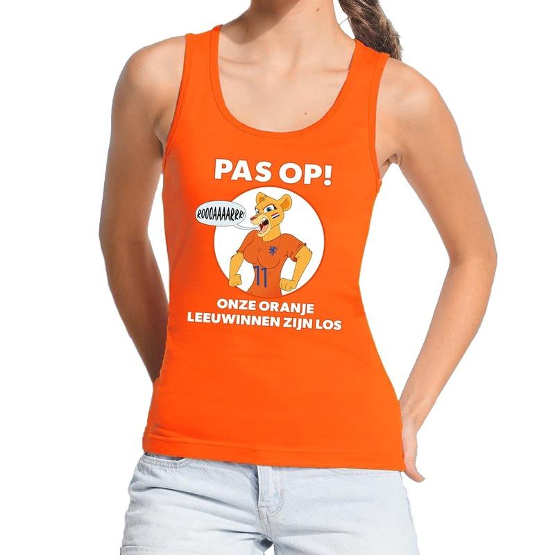 Nederland supporter tanktop Leeuwinnen zijn los oranje dames