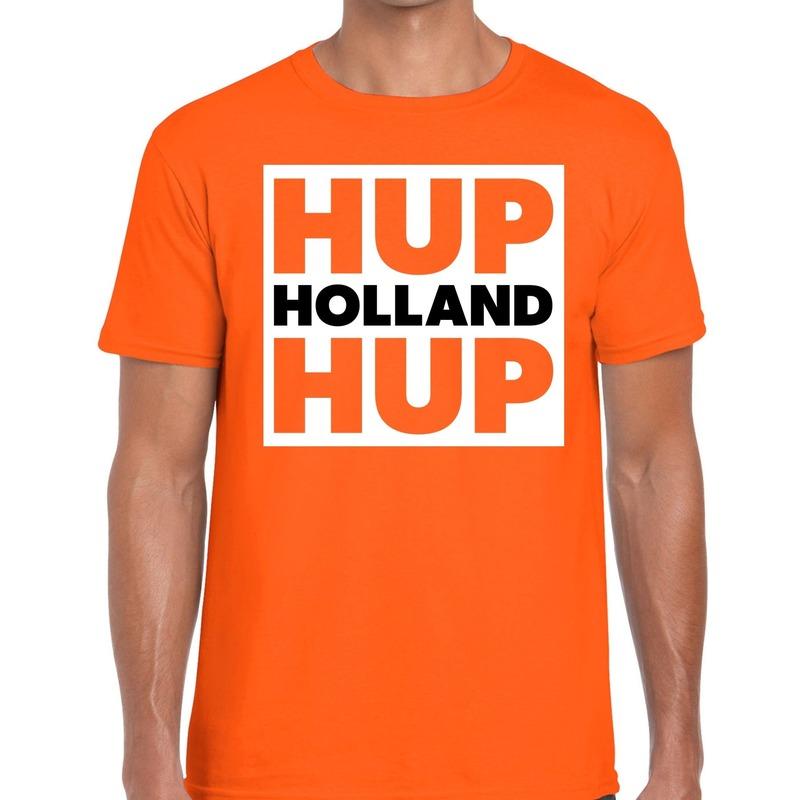 Nederlands elftal supporter shirt Hup Holland Hup oranje voor da