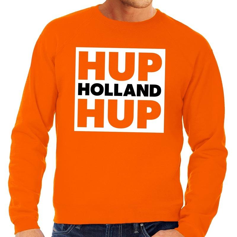 Nederlands elftal supporter sweater Hup Holland Hup oranje voor