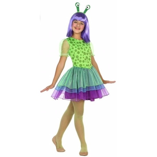 Neon alien kostuum voor meisjes