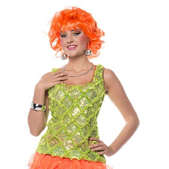 Neon groen dames hemd