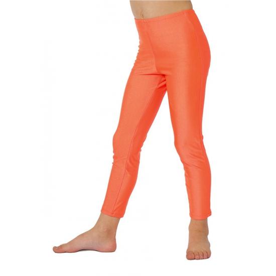 Neon oranje kinder legging
