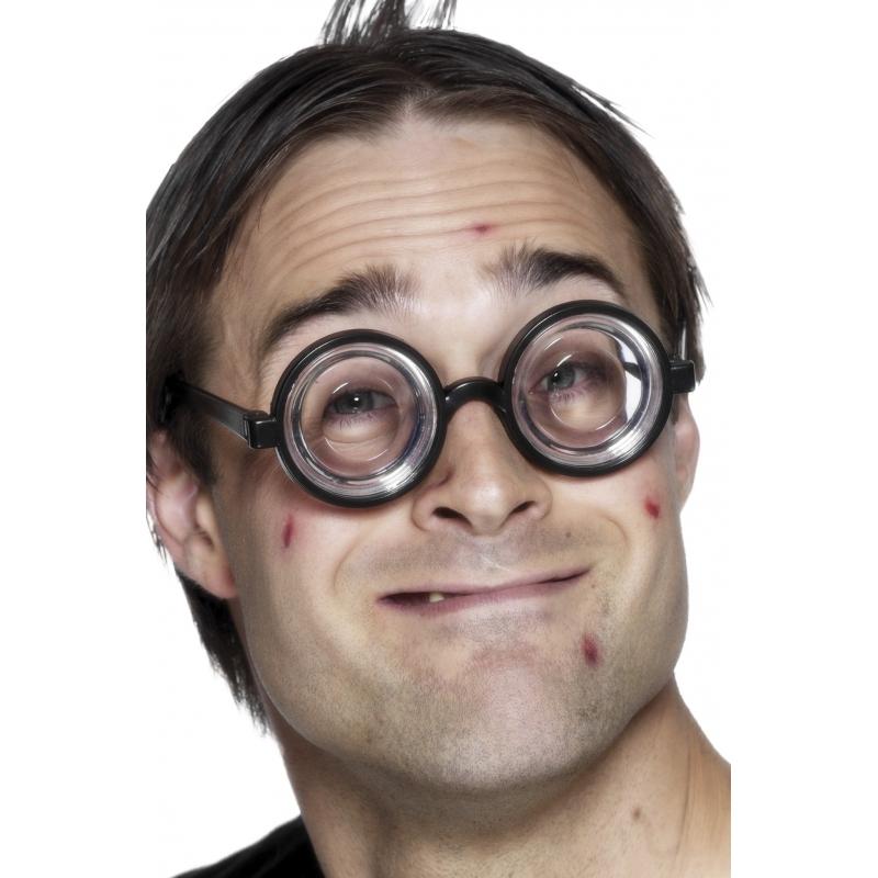 Nerdy bril met jampot glazen