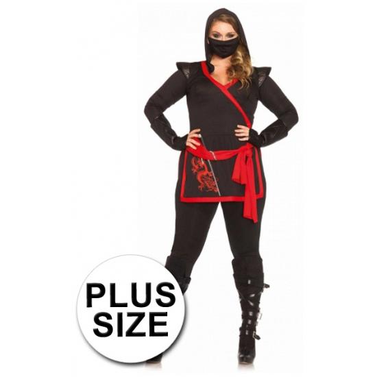Ninja kostuum voor dames grote maten