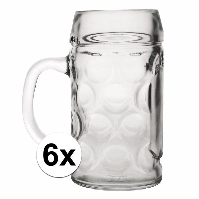 Oktoberfest - Bierpullen 0,5 liter 6 stuks