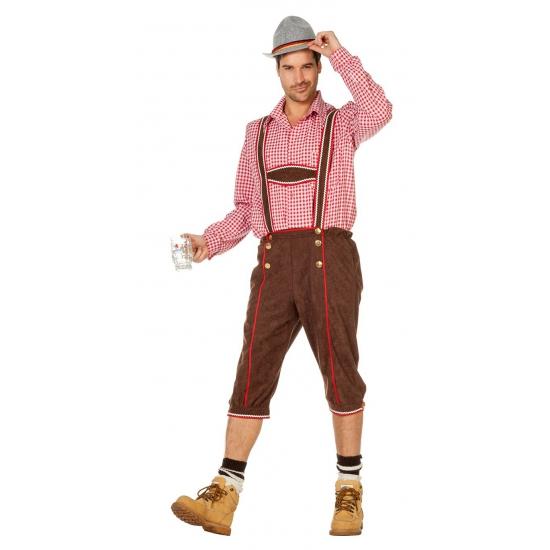Oktoberfest broek - lederhosen bruin