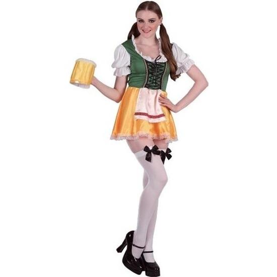 Oktoberfest - Groene/gele Tiroler dirndl verkleed kostuum/jurkje voor dames
