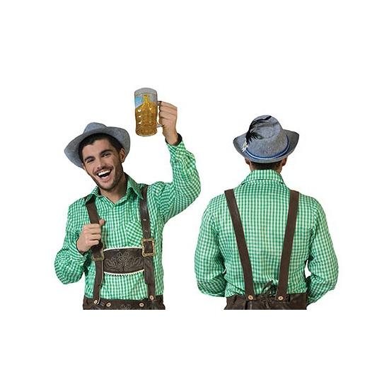 Oktoberfest - Groene geruite blouse voor heren