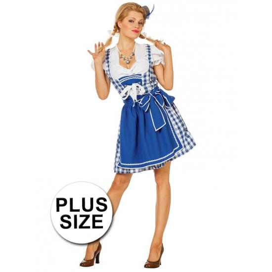 Oktoberfest - Grote maten Oktoberfest jurk blauw
