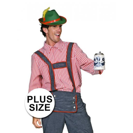 Oktoberfest - Grote maten Tiroler blouse heren