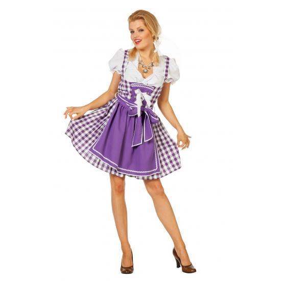 Oktoberfest jurk sexy paars