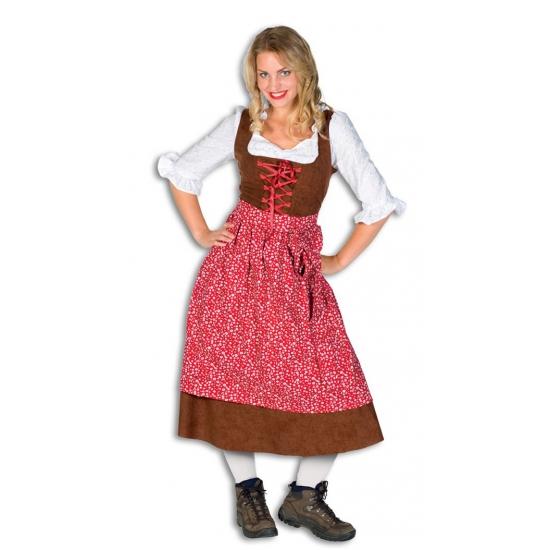 Oktoberfest - Lange tiroler jurk 42 (XL) Multi
