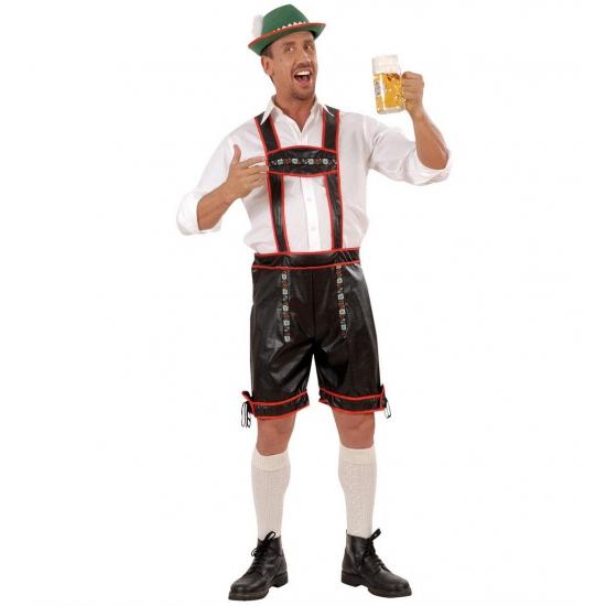Oktoberfest - Lederhose zwart voor heren
