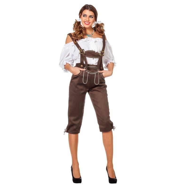 Oktoberfest - Luxe dames lederhose bruin