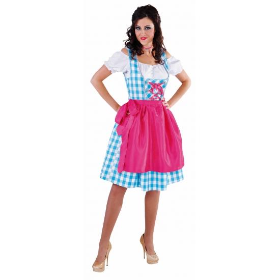 Oktoberfest - Luxe dirndl blauw voor dames 40 (L) Multi