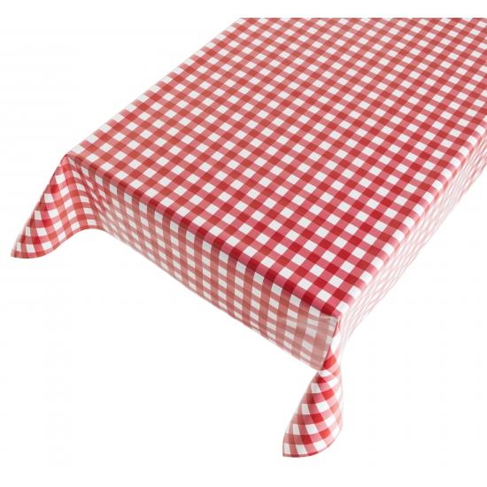 Oktoberfest - Oktoberfest tafelkleed zeil rode ruit 140 x 240 cm