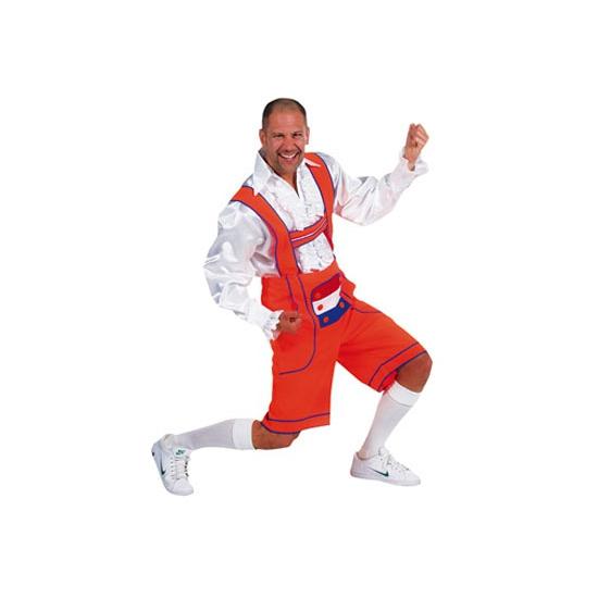Oktoberfest - Oranje Tiroler broek - lederhosen verkleedkleding