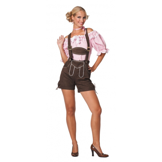 Oktoberfest - Sexy lederhose donkerbruin