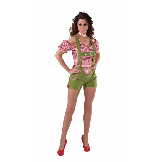 Oktoberfest - Sexy lederhose groen voor dames
