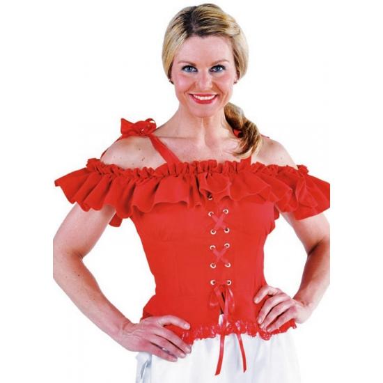 Oktoberfest - Tiroler blouse Carmen rood