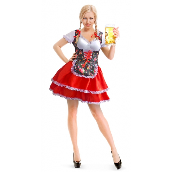 Oktoberfest - Tiroler dirndl jurk met bloemen